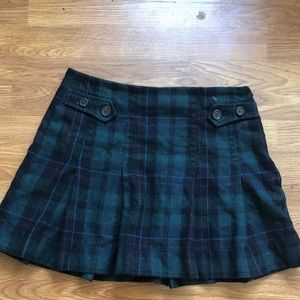 Wool Plaid Skirt